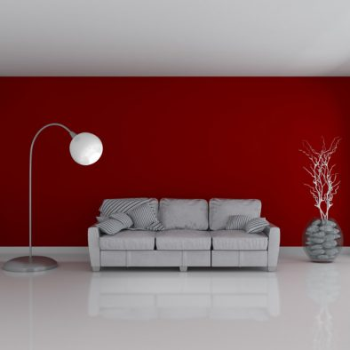 3D Render of an Empty Room and sofa